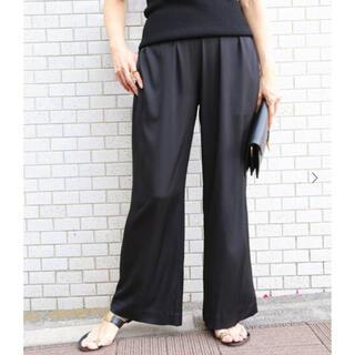 DEUXIEME CLASSE - 極美品☆ シルクサテン ギャザーワイドパンツ ブラック 36