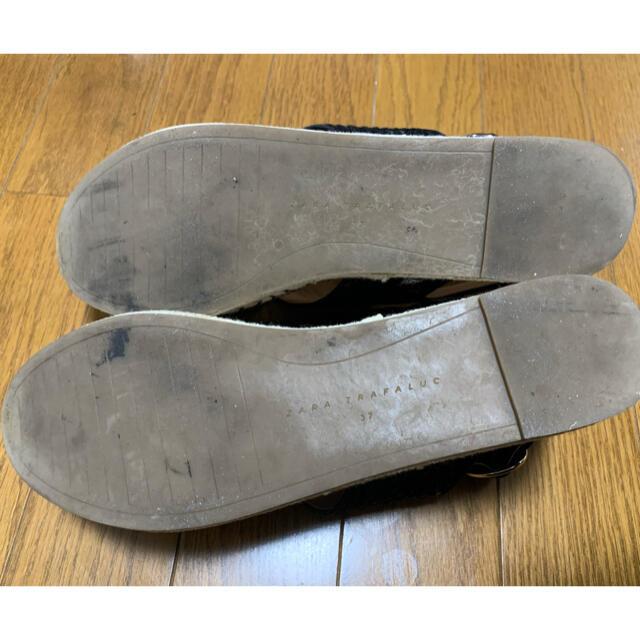 ZARA(ザラ)のZARA クロスウェッジプラットフォームサンダル ウェッジソールサンダル レディースの靴/シューズ(サンダル)の商品写真