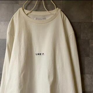 チャオパニックティピー(CIAOPANIC TYPY)の 白 オフホワイト フロント部分 刺繍 ロンT 長袖スウェット(Tシャツ/カットソー(七分/長袖))