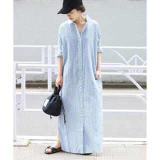 Plage - 美品 Plage wash out シャツワンピース ブルー 38