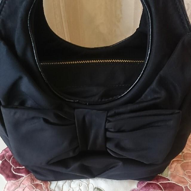 kate spade new york(ケイトスペードニューヨーク)のケートスペード🎀🎀リボンバック🎀🎀黒🎀美品🎀🎀正規品 レディースのバッグ(トートバッグ)の商品写真