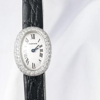 Cartier - 【保証書付】カルティエ ミニ ベニュワール WG ダイヤ レディース 腕時計