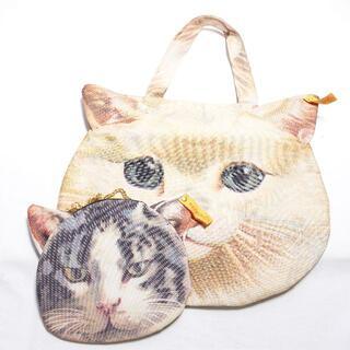 アチャチュムムチャチャ(AHCAHCUM.muchacha)のahcahcum トートバッグ/ポーチ付き レディース 猫(トートバッグ)