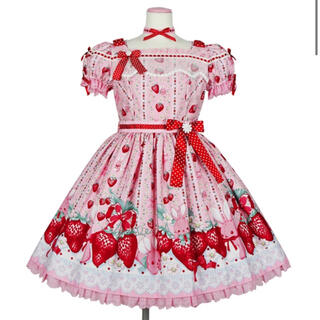 Angelic Pretty - Little Bunny Strawberryワンピース