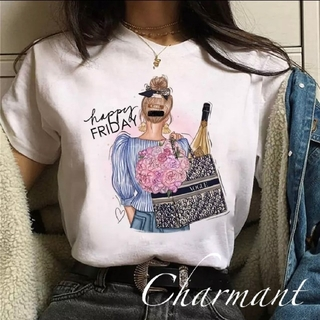 エミリアウィズ(EmiriaWiz)のVOGUE Tシャツ 可愛い 海外セレブ 白 春夏 レディース トップス(Tシャツ(半袖/袖なし))