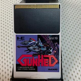 エヌイーシー(NEC)のGUNHED(ガンヘッド)Huカード PCエンジン用(家庭用ゲームソフト)