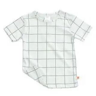 コドモビームス(こども ビームス)のタイニーコットンズ Tシャツ 白黒 モノトーン   ベビー キッズ 子供(Tシャツ/カットソー)