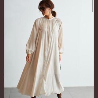ミラオーウェン(Mila Owen)のMila Owen  ギャザーデザインシャツワンピース(ロングワンピース/マキシワンピース)