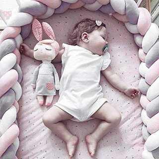 ベッドガード  4m  赤ちゃん 子供 寝返り保護 柔らかな肌ざわり(ベビーフェンス/ゲート)