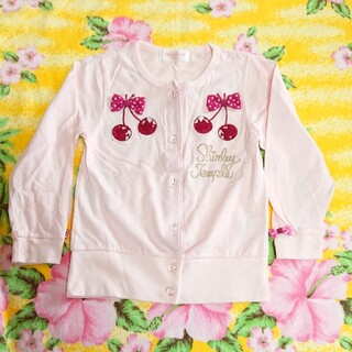 Shirley Temple - シャーリーテンプル♥チェリー♥薄手カーディガン♥ピンク♥110cm
