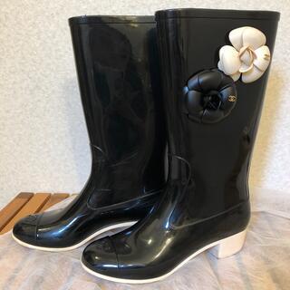 シャネル(CHANEL)のCHANEL レインブーツ37(レインブーツ/長靴)