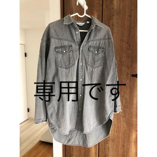 アメリカーナ(AMERICANA)のアメリカーナ オーバーサイズシャツ ウエスタン ブラック(シャツ/ブラウス(長袖/七分))