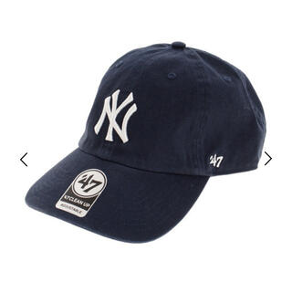 NEW ERA - 47 Brand キャップ ネイビー Yankees CLEAN UP