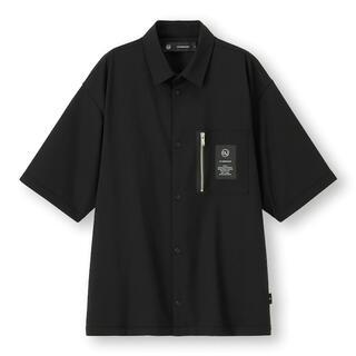 アンダーカバー(UNDERCOVER)のジップポケットシャツ(5分袖)UNDERCOVER GU Lサイズ(シャツ)