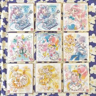 BANDAI - プリキュア色紙アート4キュアサマー&ローラ   金箔レア色紙