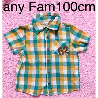 エニィファム(anyFAM)のanyFAM 半袖シャツ チェックシャツ 100cm(Tシャツ/カットソー)