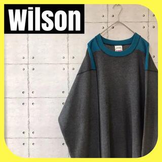 wilson - Wilsonウィルソン•スウェット•トレーナー•ツートン•ダークグレー•L