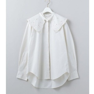 BEAUTY&YOUTH UNITED ARROWS - 6 ROKU 新品EMBROIDERY COLLAR BLOUSE ブラウス