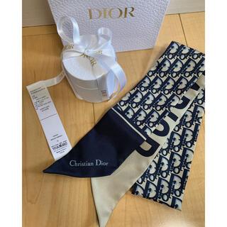 Christian Dior - ディオールDIOR ミッツァスカーフ ネイビー