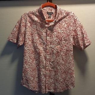 お値引きEddie Bauerリネン混アロハシャツ花柄赤白S新品未使用