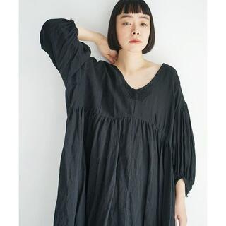 suzuki takayuki - suzuki takayuki chasuble dress [black]