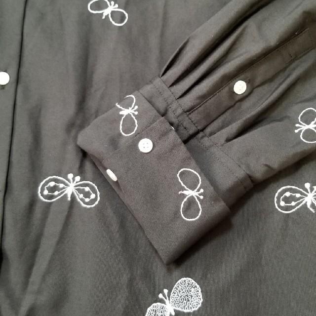 mina perhonen(ミナペルホネン)のミナペルホネン choucho ブラウス 36 ブラック レディースのトップス(シャツ/ブラウス(長袖/七分))の商品写真