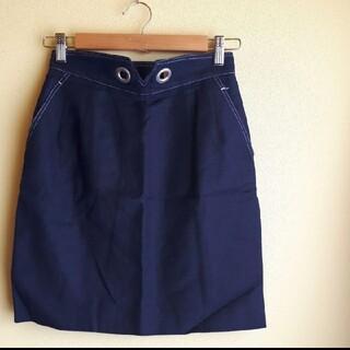 エル(ELLE)のELLE sports  レトロ ハイウエストスカート vintage(ひざ丈スカート)