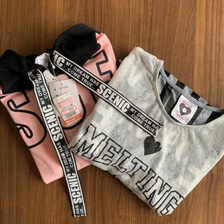 シマムラ(しまむら)の女児 半袖Tシャツ 2点セット 160㎝(Tシャツ/カットソー)