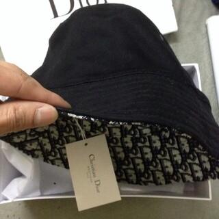 Christian Dior ロゴ バケットハット ブラック 黒 帽子