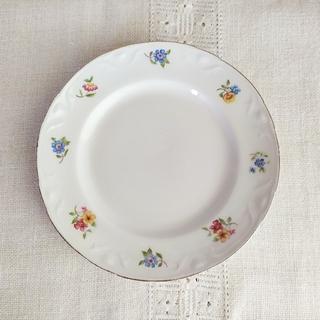 アラビア(ARABIA)の*old arabia ❀ decorated リム plate (b)(食器)