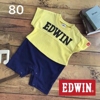 EDWIN - 【80】エドウィン EDWIN パイル  切替え カバーオール