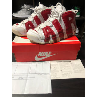 NIKE - NIKE AIR MORE UPTEMPO  RED ナイキ モアテン 赤白