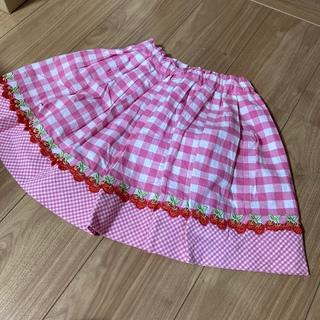 mezzo piano - メゾピアノ さくらんぼスカート 130