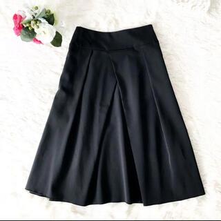 FOXEY - 【フォクシーニューヨーク】38 ふんわりタックフレアースカート ブラック黒