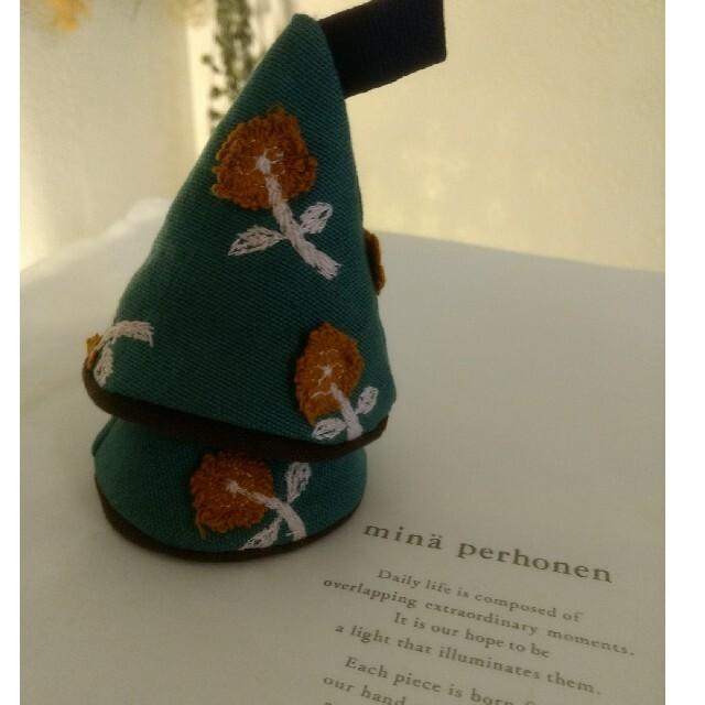 mina perhonen(ミナペルホネン)のミナペルホネン ストウブ 鍋つかみ 三角なべつかみ  ハンドメイドの生活雑貨(キッチン小物)の商品写真