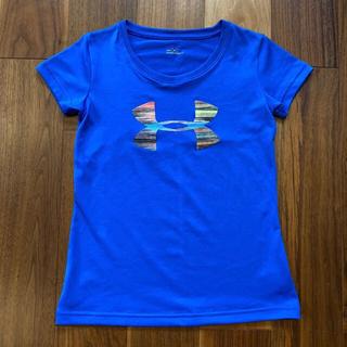 アンダーアーマー(UNDER ARMOUR)の【美品】アンダーアーマー Tシャツ 130 ブルー(Tシャツ/カットソー)