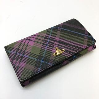 Vivienne Westwood - ヴィヴィアンウエストウッド 二つ折り長財布  レザー ブラック×マルチカラー