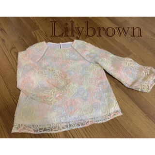 Lily Brown - リリーブラウン 花柄トップス