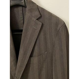 ボリオリ(BOGLIOLI)のボリオリ コート 製品染め コットン ブラウンヘリンボーンジャケット 4648(テーラードジャケット)