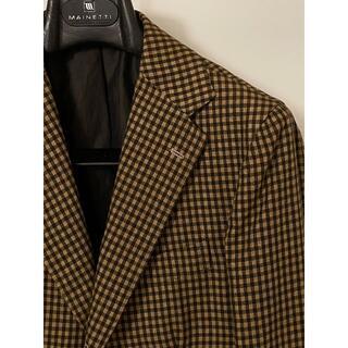 ボリオリ(BOGLIOLI)のエッリコフォルミコラ ブラウン チェックジャケット 春夏 446 リネンコットン(テーラードジャケット)