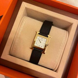 Hermes - ★新品未使用★【HERMES】腕時計 21cm*21cm 白文字盤 Black
