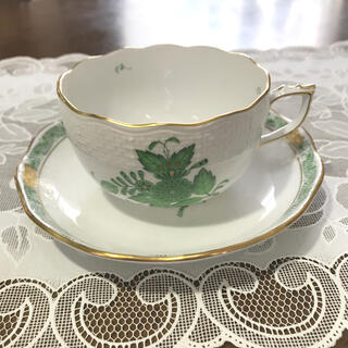 ヘレンド(Herend)のヘレンド アポニーグリーンカップ&ソーサー(食器)