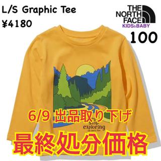 ザノースフェイス(THE NORTH FACE)のザノースフェイス★ロングスリーブグラフィックティー 長袖Tシャツ/キッズ100(Tシャツ/カットソー)