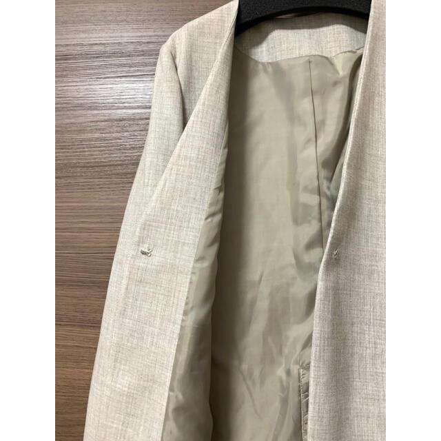 【みー様専用】ジャケット・パンツ・ブラウス3点セット ベージュ 11号 レディースのフォーマル/ドレス(スーツ)の商品写真