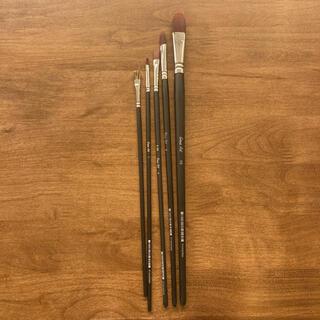 絵筆 油絵筆 水彩画筆 アクリル 5本セット 新品 未使用(絵筆)