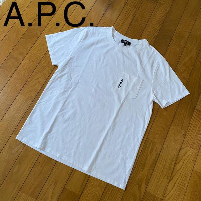 A.P.C(アーペーセー)のA.P.C.  アーペーセー ポケットロゴ クルーネック Tシャツ Mサイズ メンズのトップス(Tシャツ/カットソー(半袖/袖なし))の商品写真