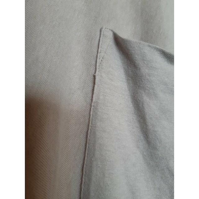 KLASICA クラシカ★ベルギーリネン グレージュドロップショルダーTシャツ メンズのトップス(Tシャツ/カットソー(半袖/袖なし))の商品写真