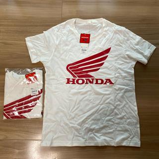 GU - HONDA+GUコラボ 新品親子お揃い半袖Tシャツ メンズSサイズ110センチ