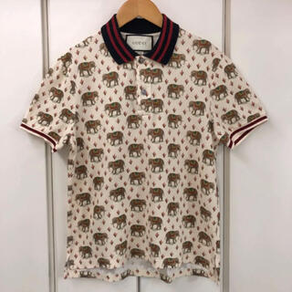グッチ(Gucci)の美品!GUCCI Polo Shirt Elephant Print(S)(ポロシャツ)