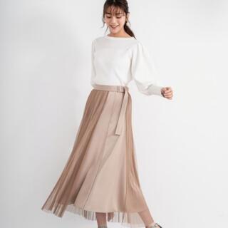 アンデミュウ(Andemiu)の貴島明日香コラボ チュールレイヤードスカート(ひざ丈スカート)